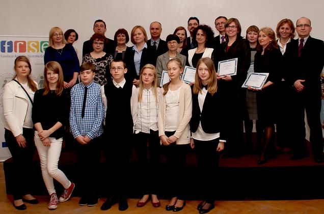 zdjęcie ze spotkania gratulacyjnego w Warszawie; źródło:eTwinning Polska