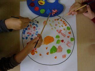 malowanie kropki w kropki