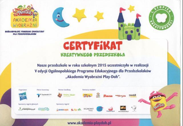 certyfikat play doh
