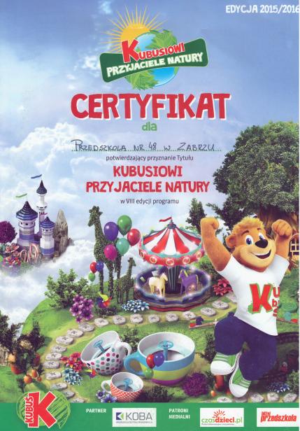 certyfikat_kubusiowi_przyjaciele_natury