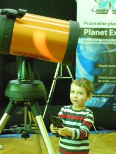 Oliwier steruje teleskopem