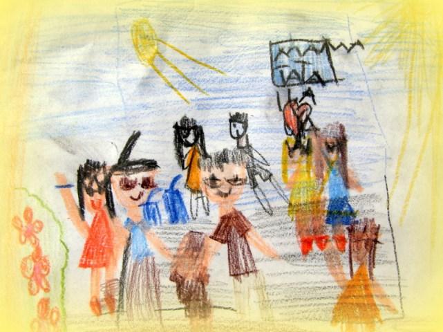 Festyn na rysunku Olivii