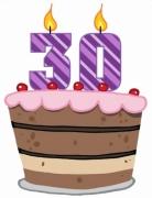 30 urodziny tort
