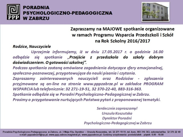 Program Wparcia 17.05.2017 r.