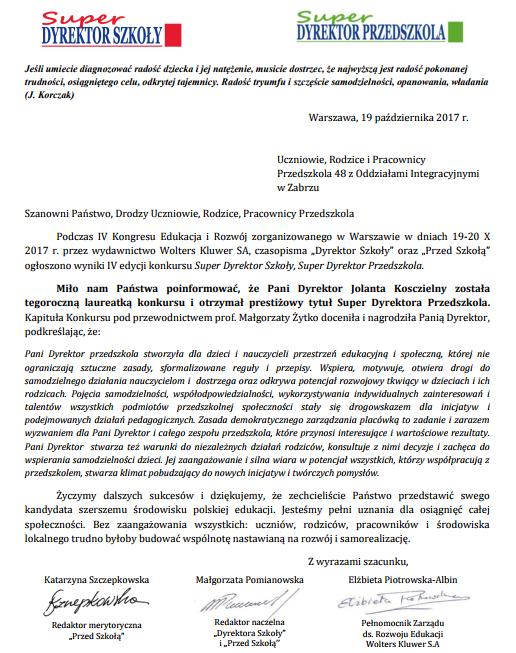 list_gratulacyjny_konkurs_super_dyrektor