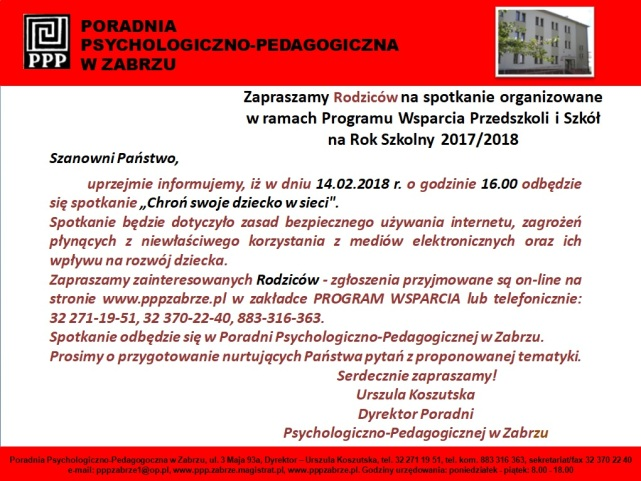Program Wsparcia - 14.02.2018 r.